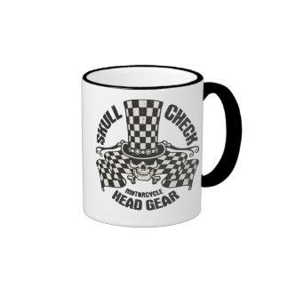Skull Check Head Gear Coffee Mugs