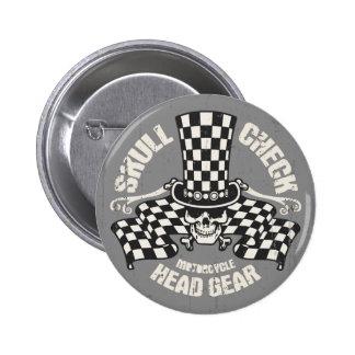 Skull Check Head Gear Pins