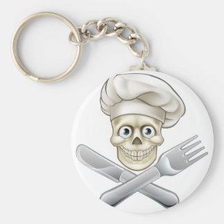 Skull Chef Pirate Cartoon Key Ring
