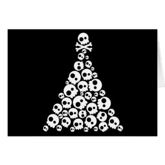 Skull Christsmas Tree Card