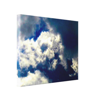 Skull Cloud Wrapped Canvas