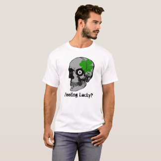 Skull Clover 8 Ball Feeling Lucky T-Shirt