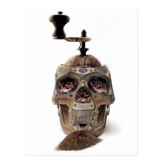 Skull Coffee Grinder Postcard