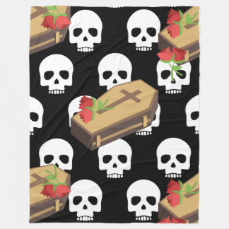 skull coffin emojis blanket