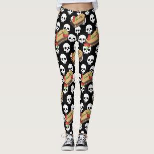 Skull Coffin Emojis Kids Leggings