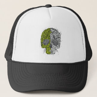 Skull ~ Collage Tattoo Skull Fantasy Art Trucker Hat