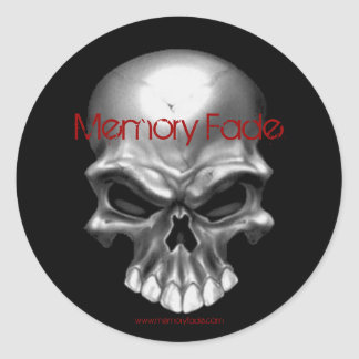 skull collection, Memory Fade, $5.00 Round Sticker