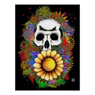 Skull colourful