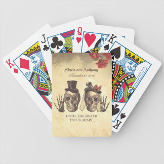 Skull Couple Day of Dead Wedding Bicycle Playing Cards