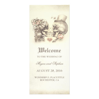 Skull Couple Deadly Pretty Wedding Programs Customized Rack Card