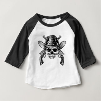 Skull Cowboy and Guns Baby T-Shirt