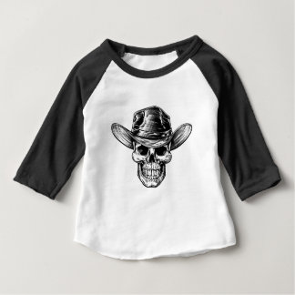 Skull Cowboy Hat Drawing Baby T-Shirt