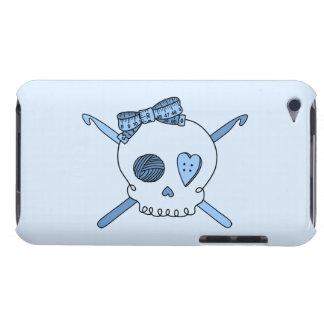 Skull & Crochet Hooks (Baby Blue Background) iPod Touch Covers