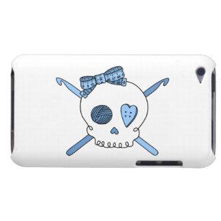 Skull & Crochet Hooks (Baby Blue) iPod Case-Mate Cases