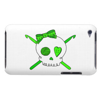 Skull & Crochet Hooks (Lime Green) Barely There iPod Covers
