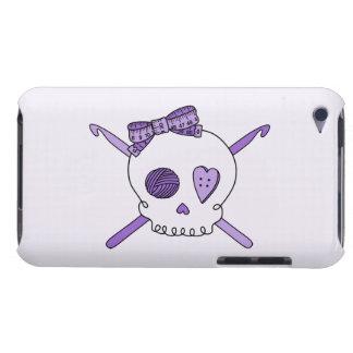 Skull & Crochet Hooks (Purple Background) Case-Mate iPod Touch Case