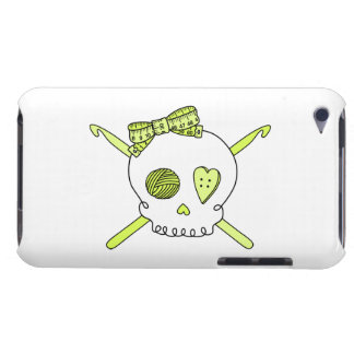 Skull & Crochet Hooks (Yellow) Barely There iPod Case