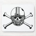 Skull & Cross Bones Football Player Mouse Pads