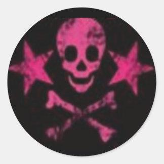 Skull&Cross Bones Pink Sticker
