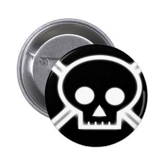 Skull & Cross Button (Black/white)