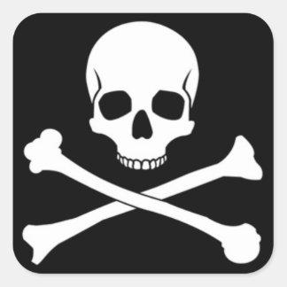 Skull & Crossbone Square Stickers