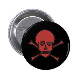 Skull & Crossbones 6 Cm Round Badge