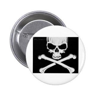 skull & crossbones pinback button