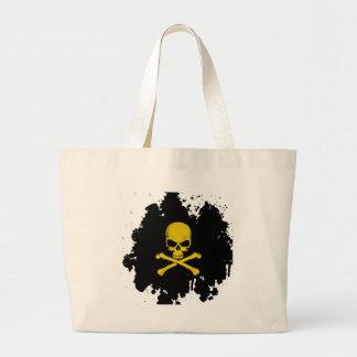 Skull Crossbones Canvas Bag
