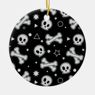 Skull & Crossbones (Black) Ceramic Ornament