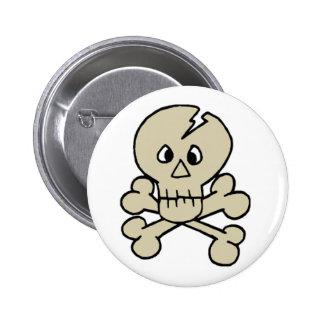 Skull Crossbones Buttons