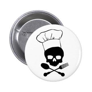 Skull & Crossbones Chef 6 Cm Round Badge