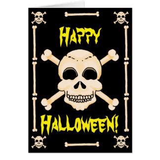 Skull & Crossbones Halloween Greeting Card
