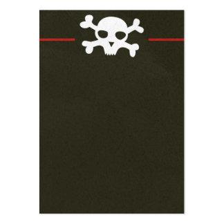 Skull Crossbones Header Business Card