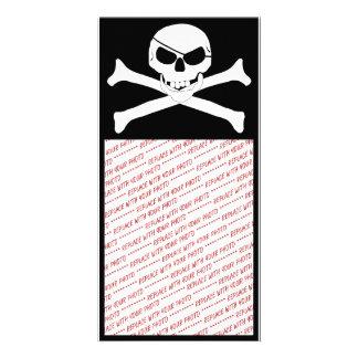 Skull & Crossbones - Jolly Roger Customized Photo Card