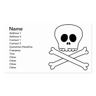 Skull & Crossbones Pack Of Standard Business Cards