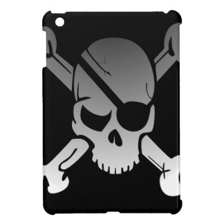 Skull Crossbones Pirate Flag Fade Eye Patch iPad Mini Covers