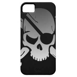 Skull Crossbones Pirate Flag Fade Eye Patch iPhone 5 Case