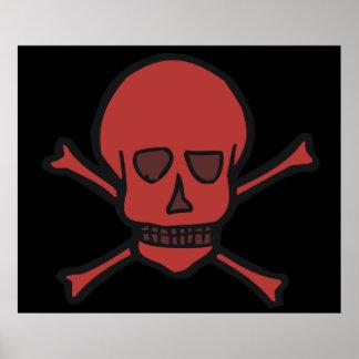 Skull Crossbones Print