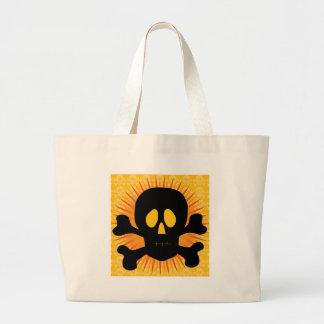 Skull Crossbones Silhouette Tote Bag