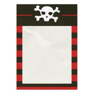 Skull Crossbones Stripes Business Card