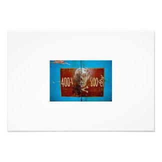Skull & Crossbones Warning Sign Photo Print