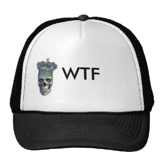 skull crown icon, WTF Trucker Hats