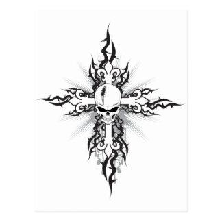 Skull Crucifix Postcard