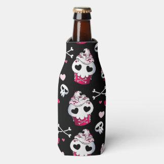 Skull Cupcake Madness Bottle Cooler