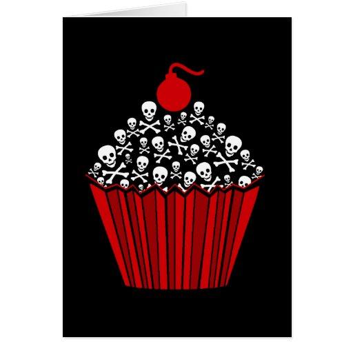 Skull Cupcakes Card