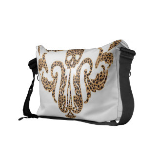 Skull Damask-Leopard Commuter Bag