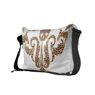 Skull Damask-Leopard Commuter Bag