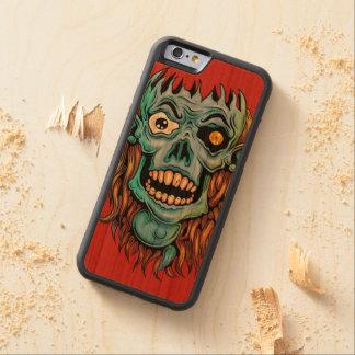 skull dark elf with no brain carved cherry iPhone 6 bumper case