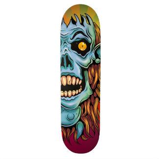 skull dark elf with no brain skate board