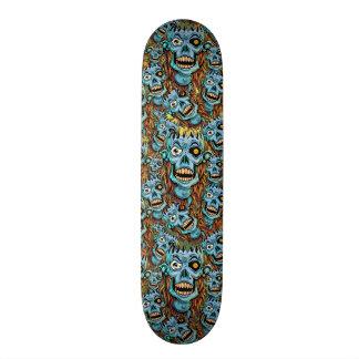 skull dark elf with no brain skateboard decks